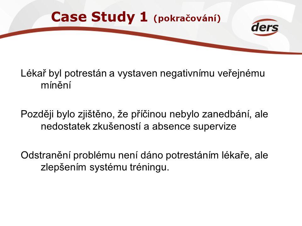 Case Study 1 (pokračování)