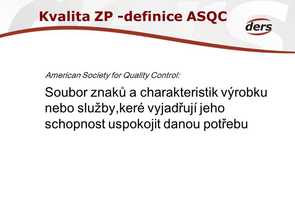Kvalita ZP -definice ASQC