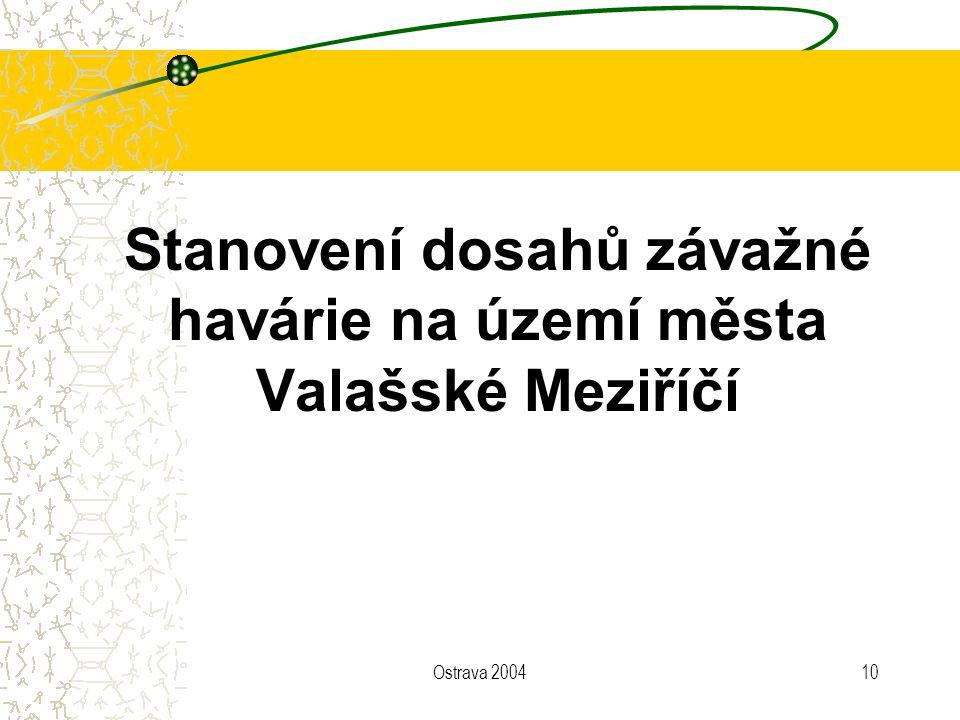 Stanovení dosahů závažné havárie na území města Valašské Meziříčí