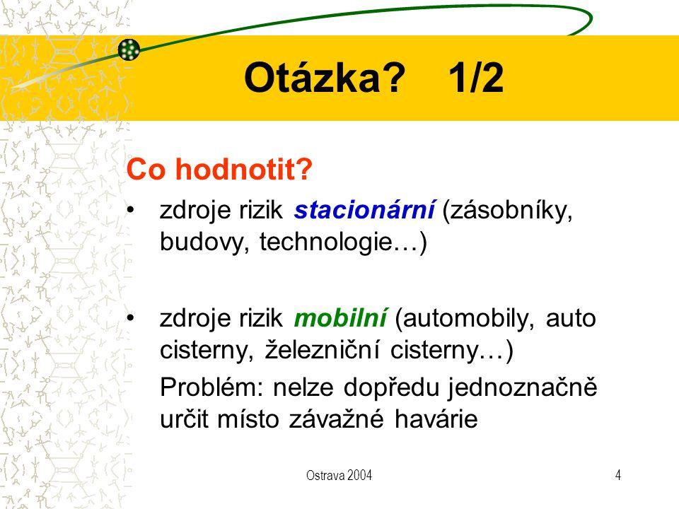 Otázka 1/2 Co hodnotit zdroje rizik stacionární (zásobníky, budovy, technologie…)