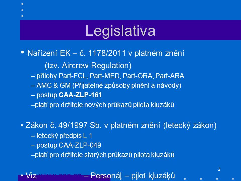 Legislativa Nařízení EK – č. 1178/2011 v platném znění