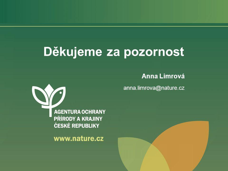 Děkujeme za pozornost Anna Limrová anna.limrova@nature.cz