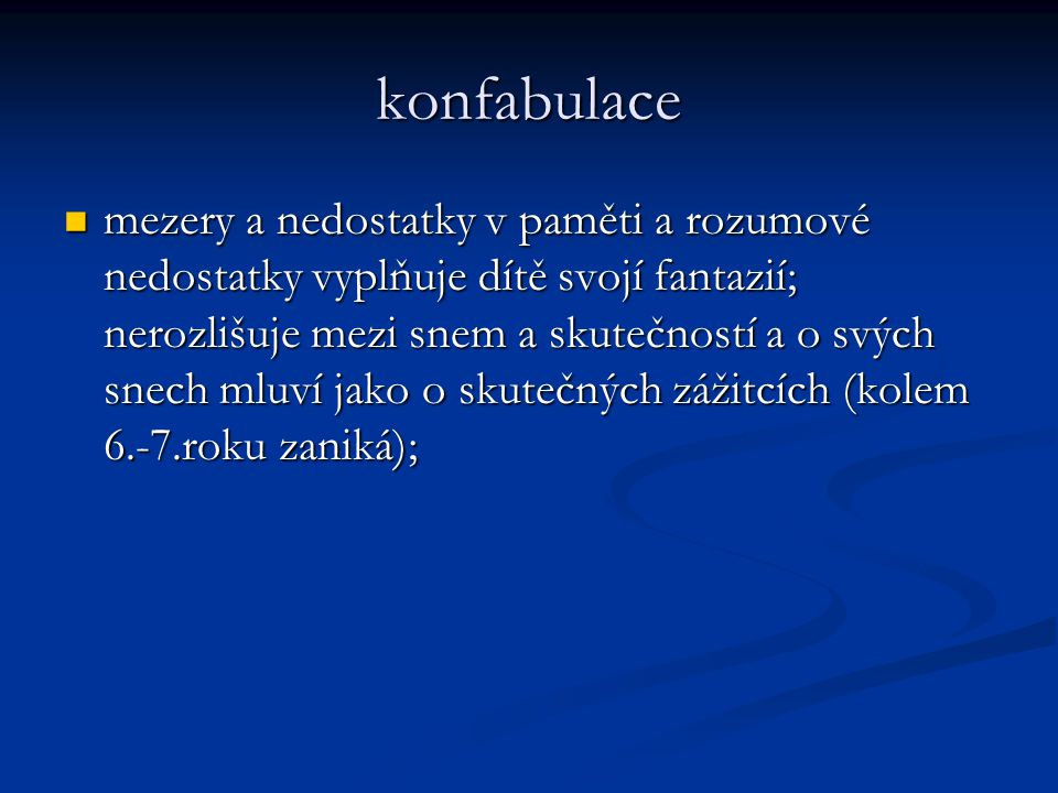 konfabulace