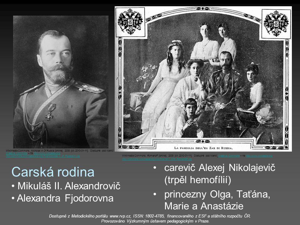 Carská rodina carevič Alexej Nikolajevič (trpěl hemofílií)