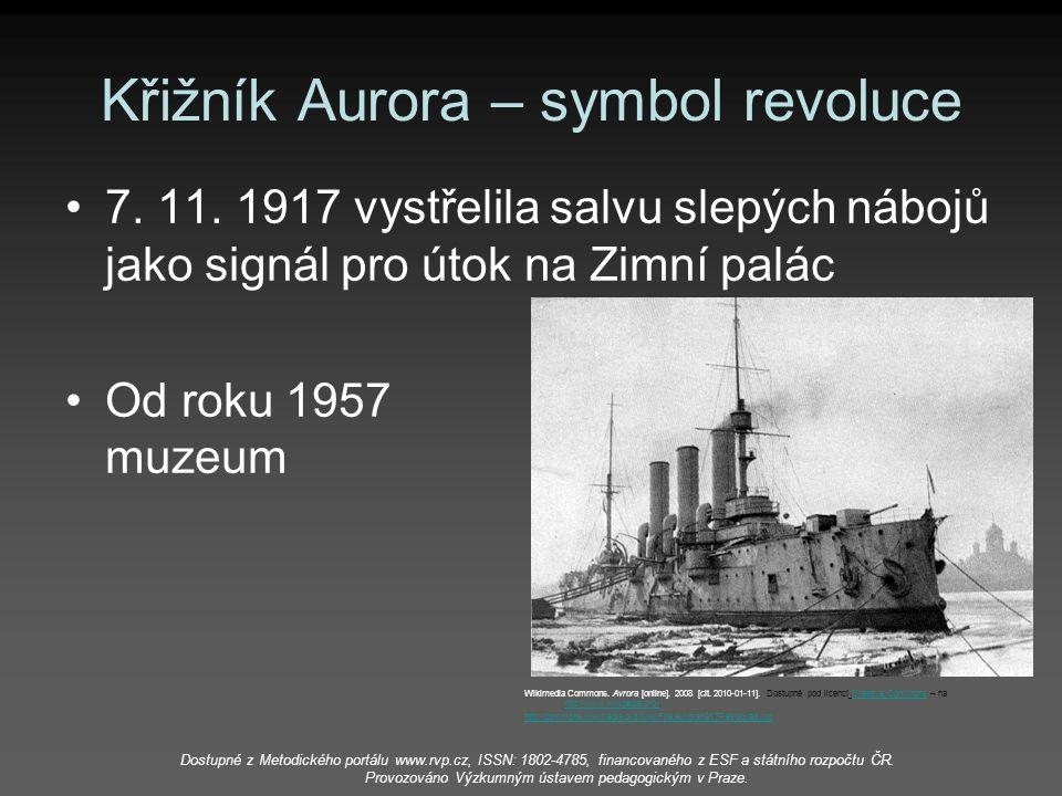 Křižník Aurora – symbol revoluce