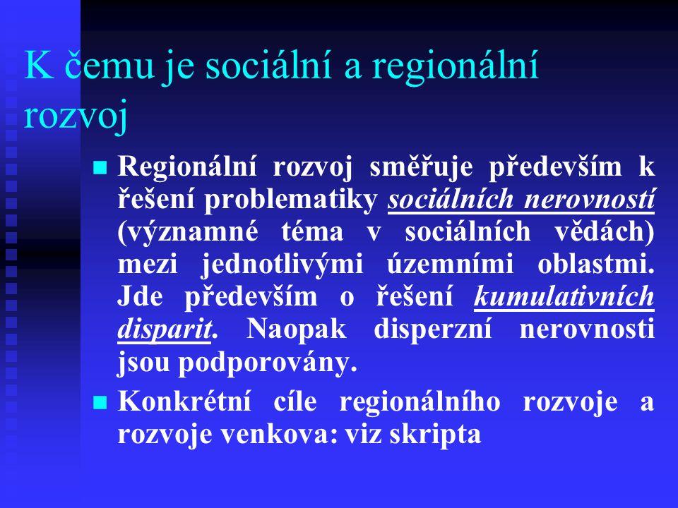 K čemu je sociální a regionální rozvoj