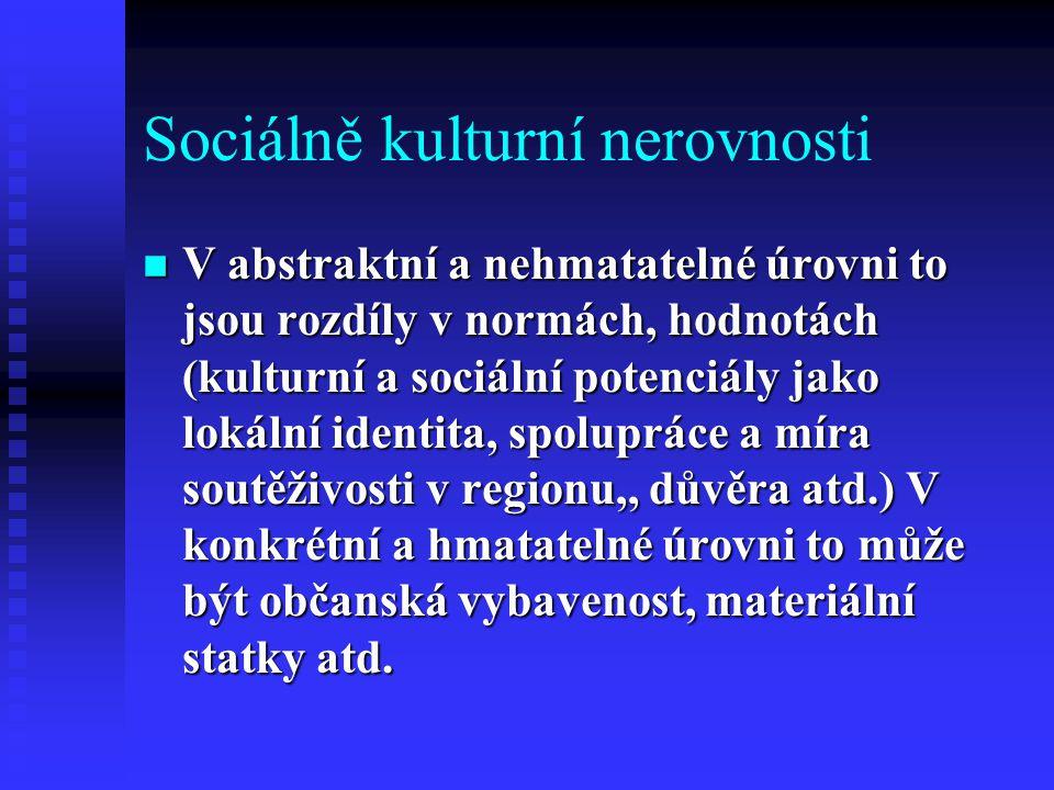 Sociálně kulturní nerovnosti