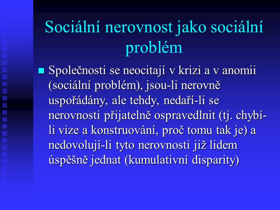 Sociální nerovnost jako sociální problém