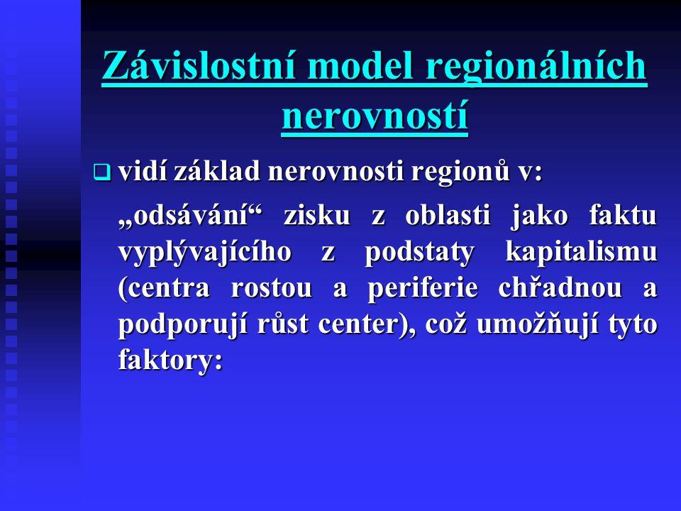 Závislostní model regionálních nerovností