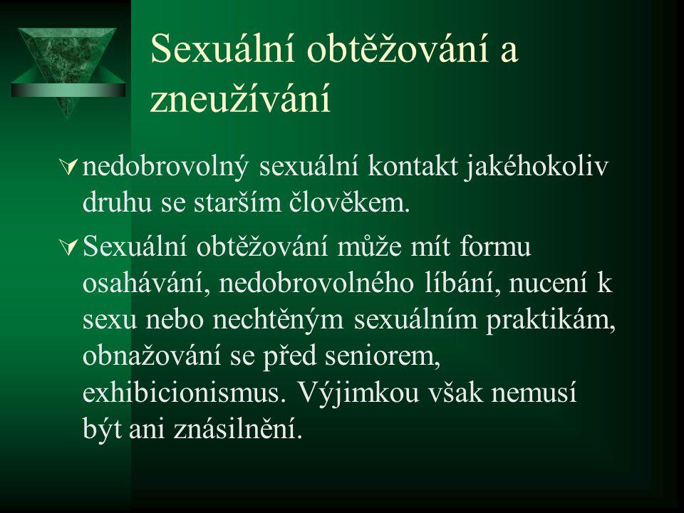 Sexuální obtěžování a zneužívání