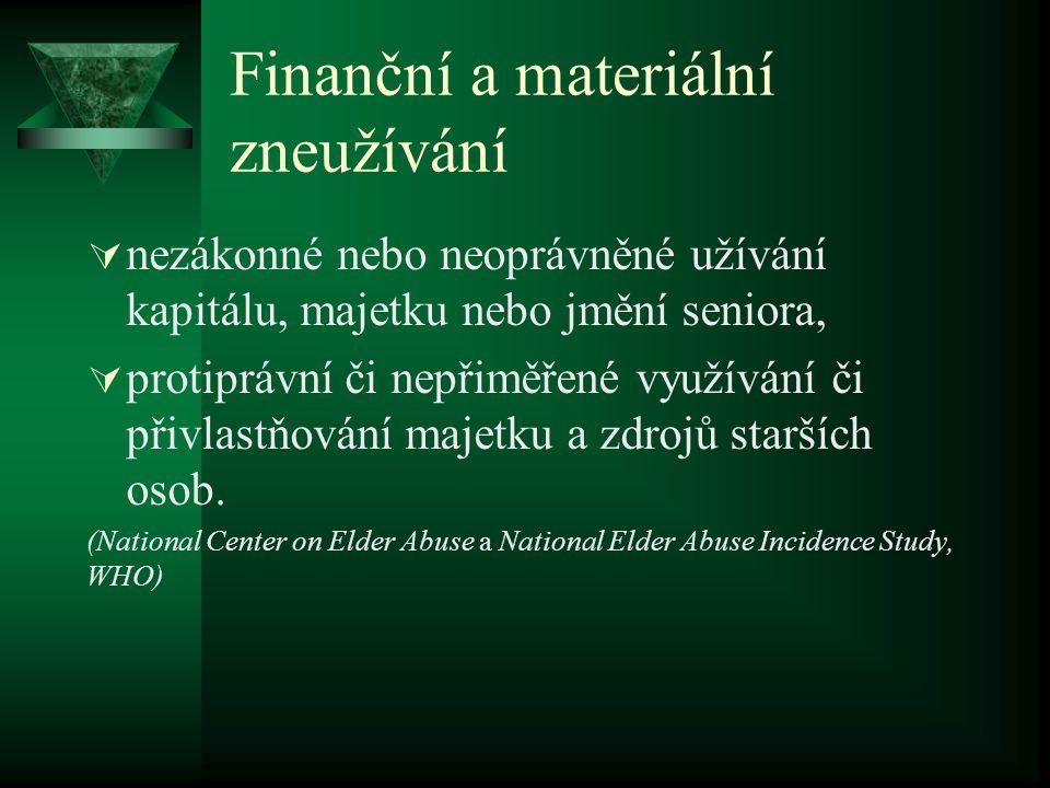 Finanční a materiální zneužívání