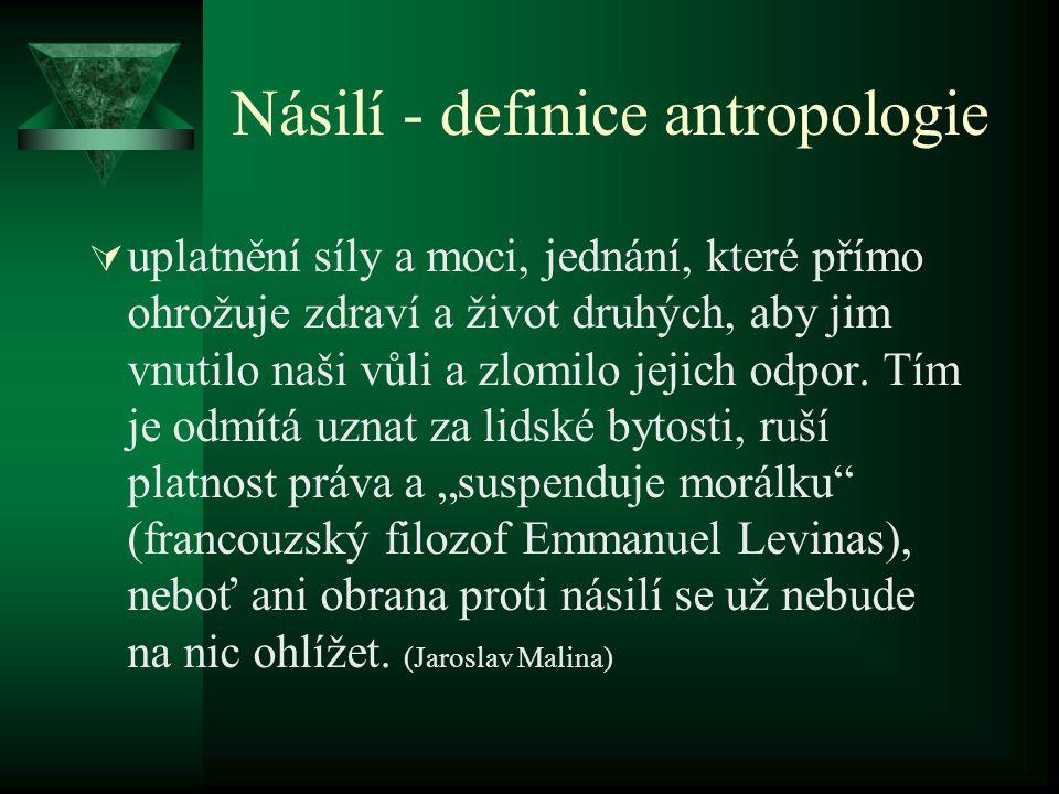 Násilí - definice antropologie