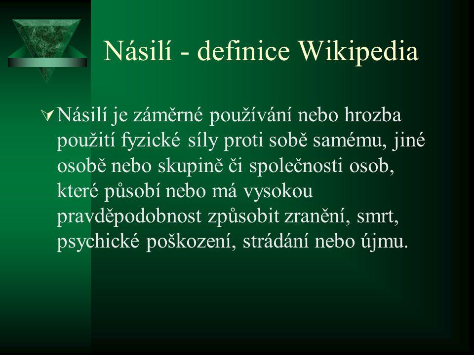 Násilí - definice Wikipedia
