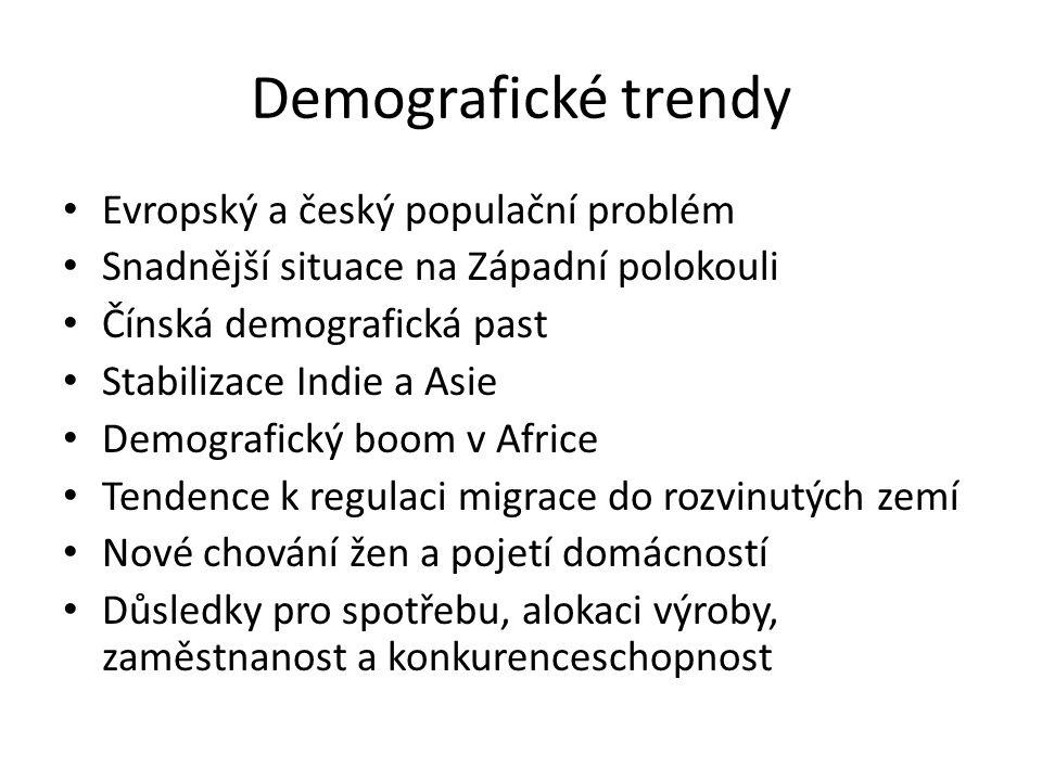 Demografické trendy Evropský a český populační problém