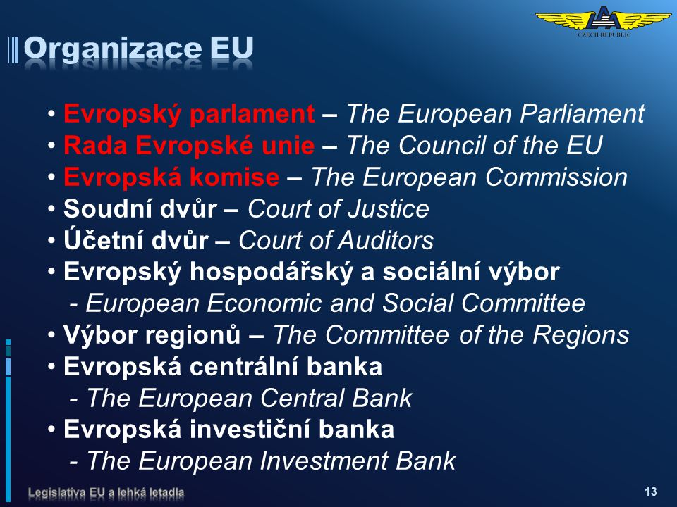 Organizace EU Evropský parlament – The European Parliament