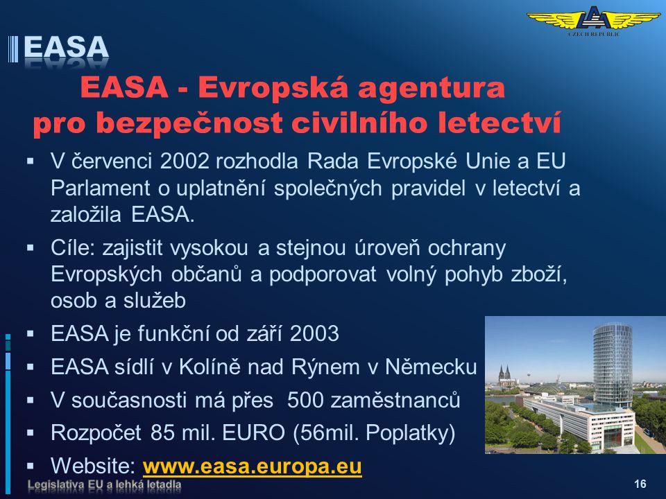 EASA - Evropská agentura pro bezpečnost civilního letectví