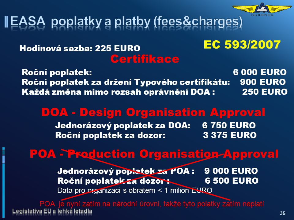 EASA poplatky a platby (fees&charges)