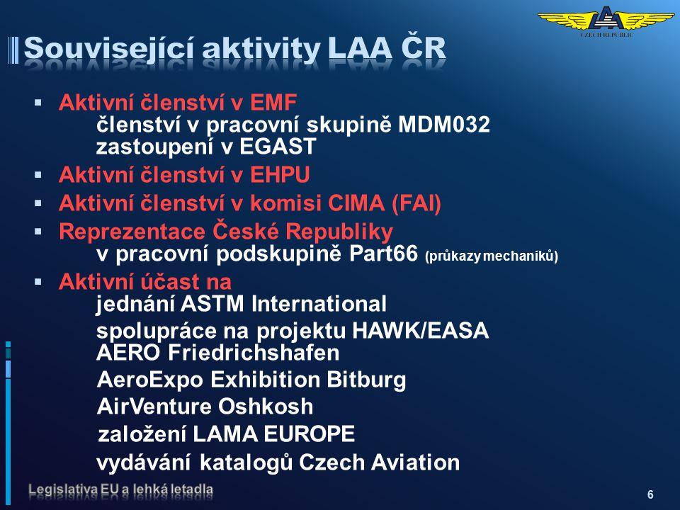 Související aktivity LAA ČR