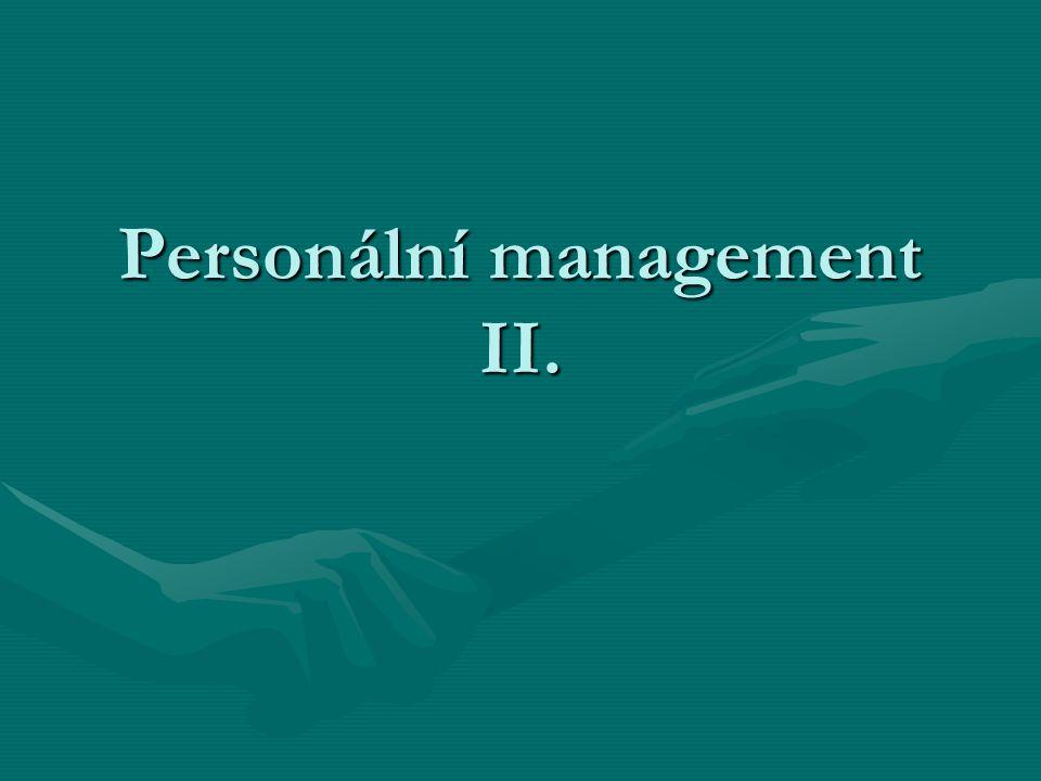 Personální management II.