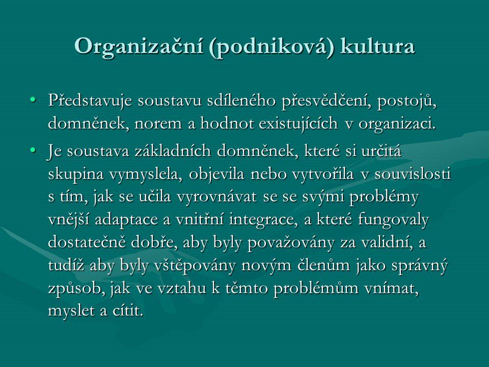 Organizační (podniková) kultura