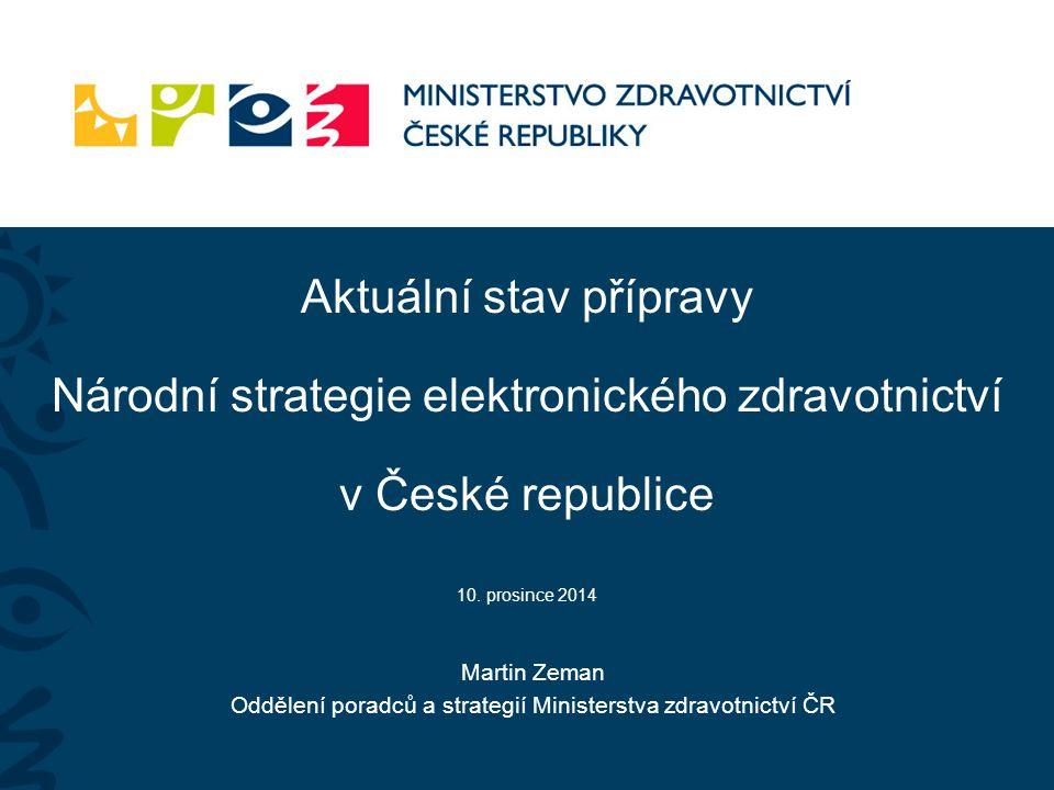 Oddělení poradců a strategií Ministerstva zdravotnictví ČR
