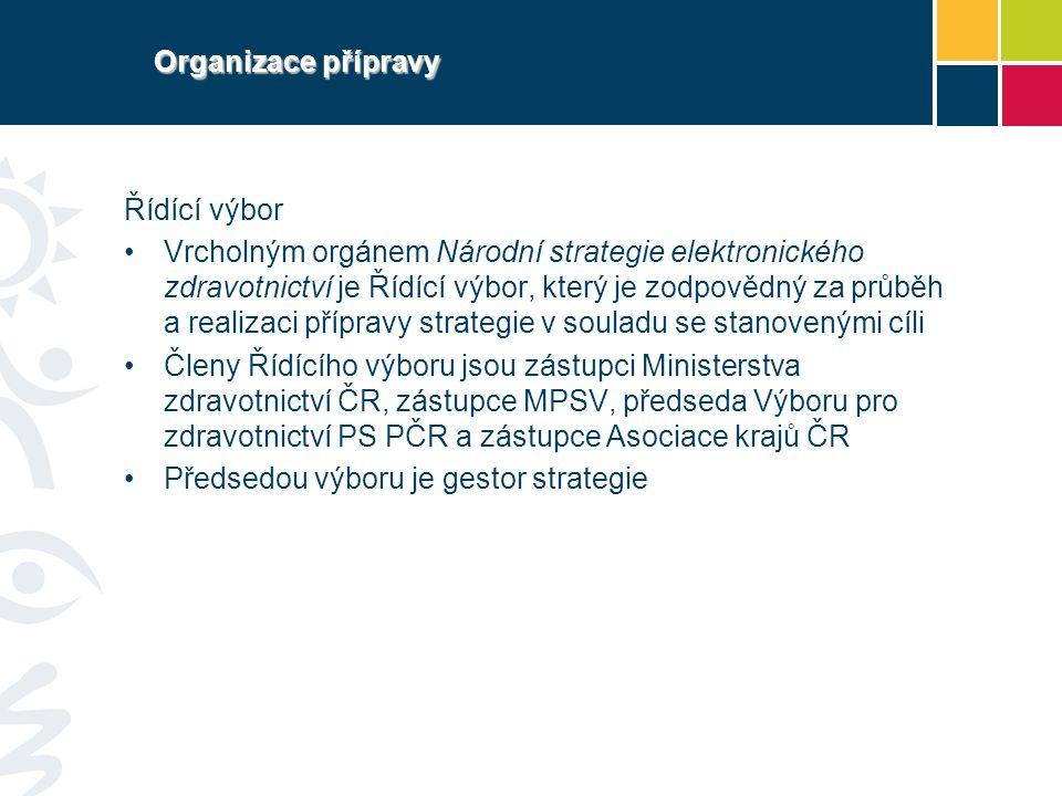 Organizace přípravy Řídící výbor.