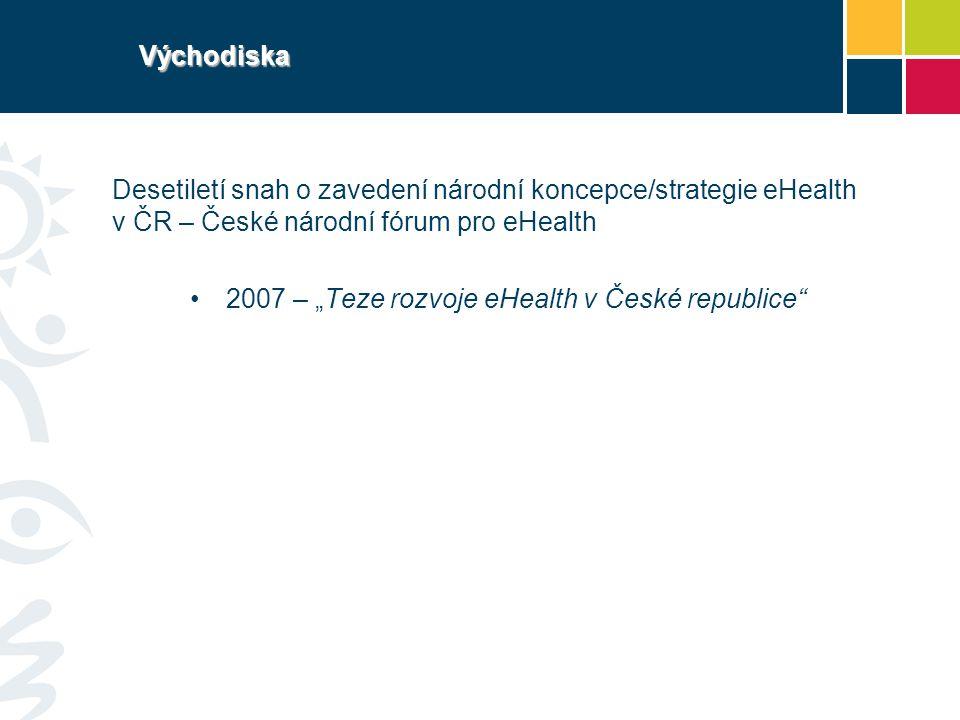 Východiska Desetiletí snah o zavedení národní koncepce/strategie eHealth v ČR – České národní fórum pro eHealth.