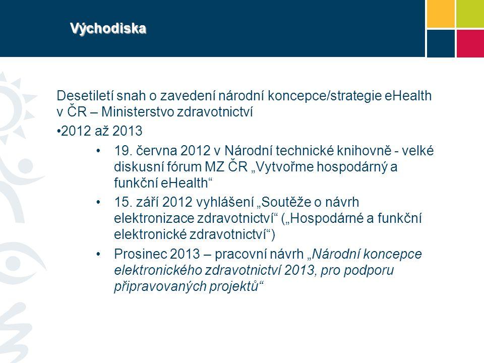 Východiska Desetiletí snah o zavedení národní koncepce/strategie eHealth v ČR – Ministerstvo zdravotnictví.