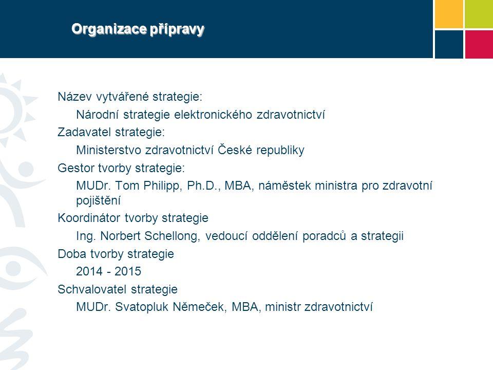 Organizace přípravy Název vytvářené strategie: