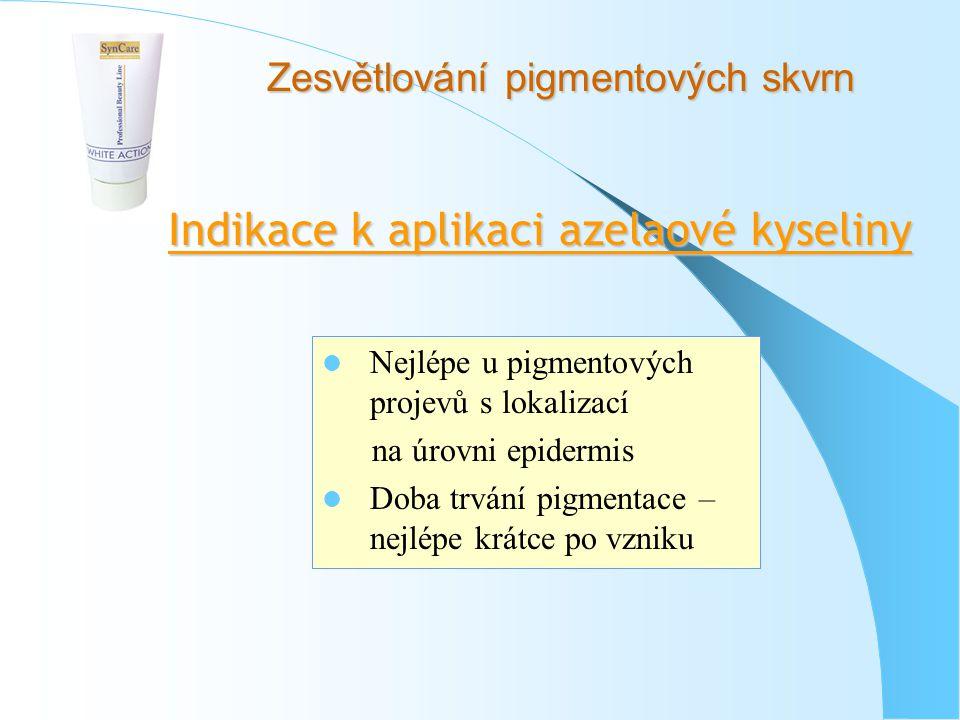 Indikace k aplikaci azelaové kyseliny