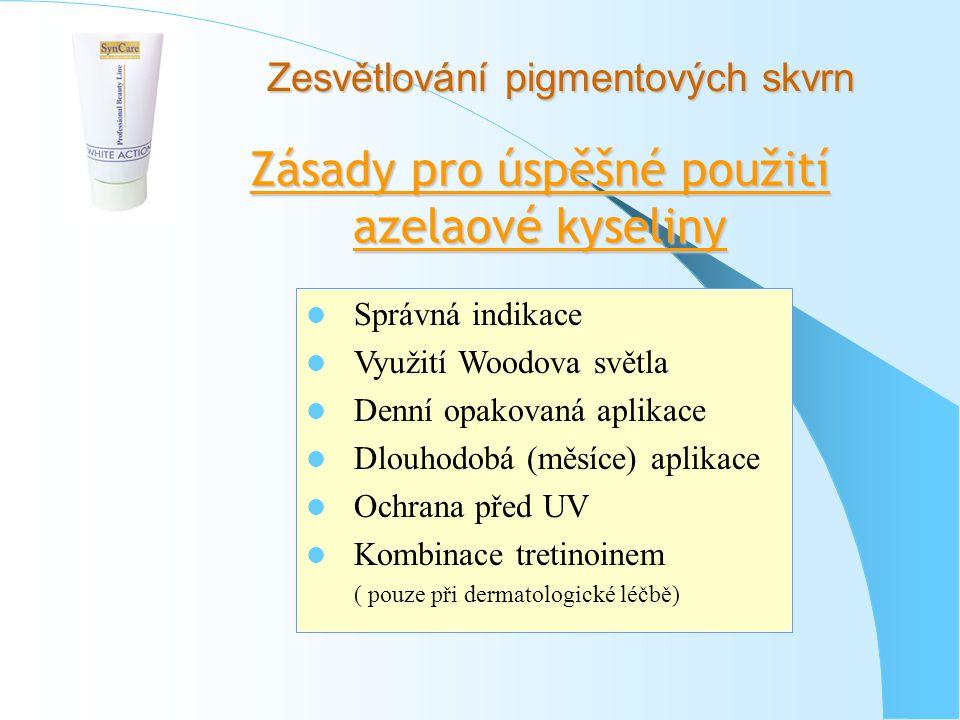Zásady pro úspěšné použití azelaové kyseliny