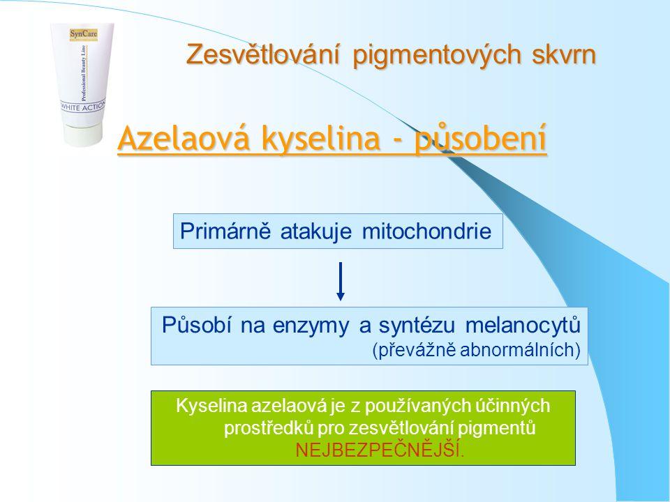 Azelaová kyselina - působení