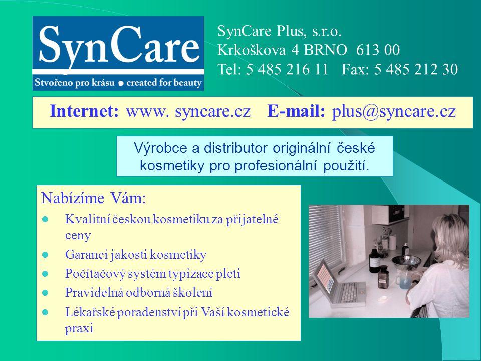 Internet: www. syncare.cz E-mail: plus@syncare.cz