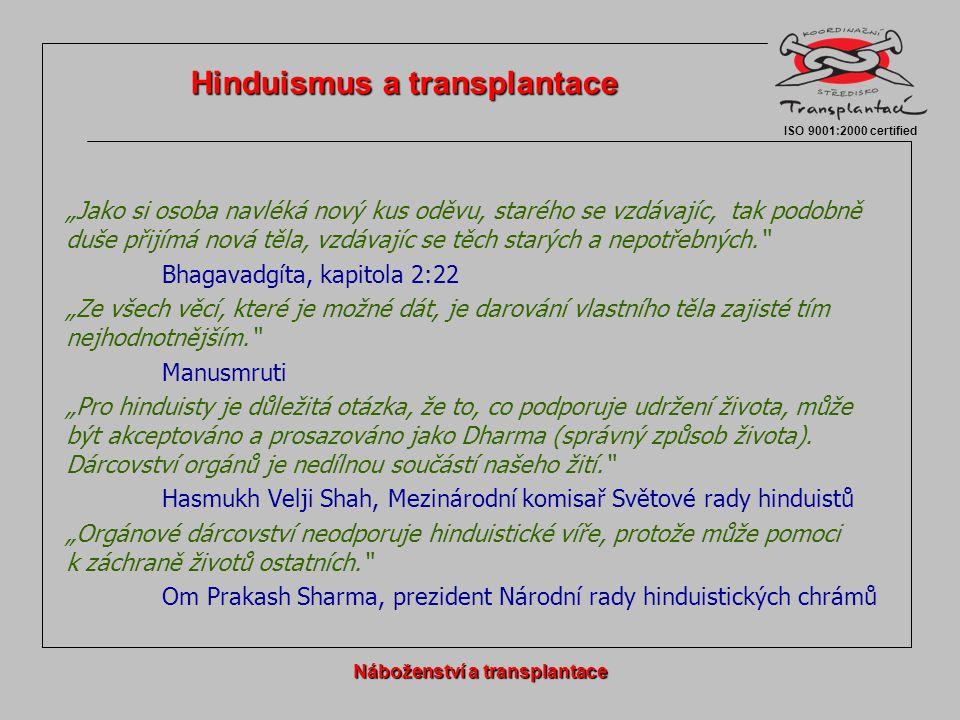 Hinduismus a transplantace Náboženství a transplantace