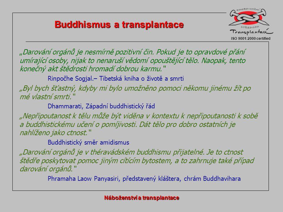 Buddhismus a transplantace Náboženství a transplantace