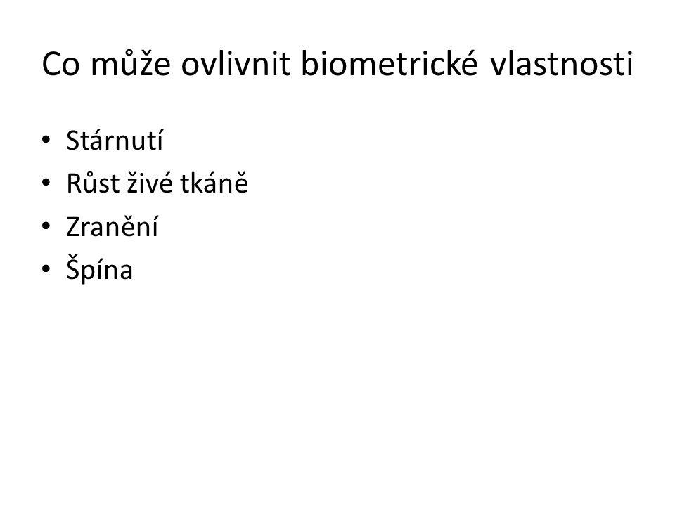 Co může ovlivnit biometrické vlastnosti