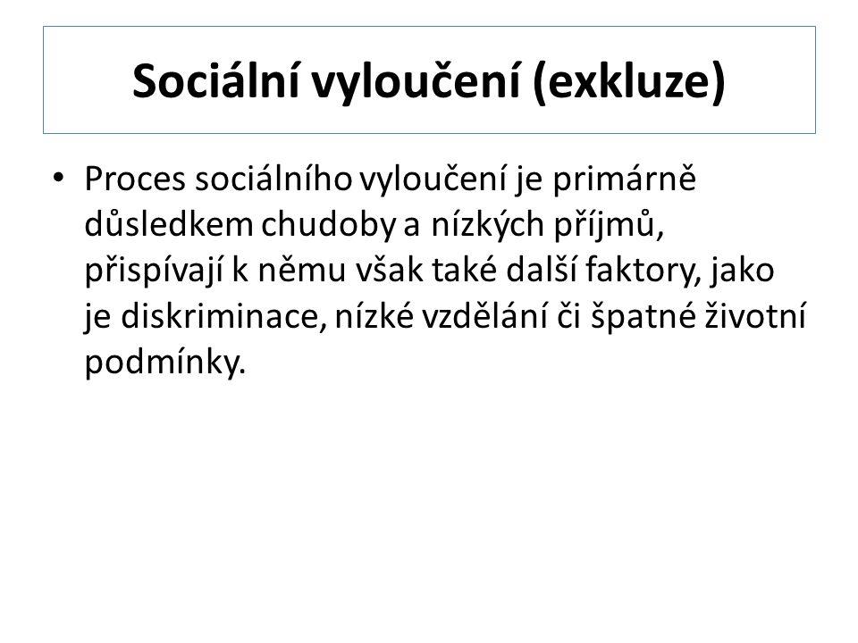 Sociální vyloučení (exkluze)