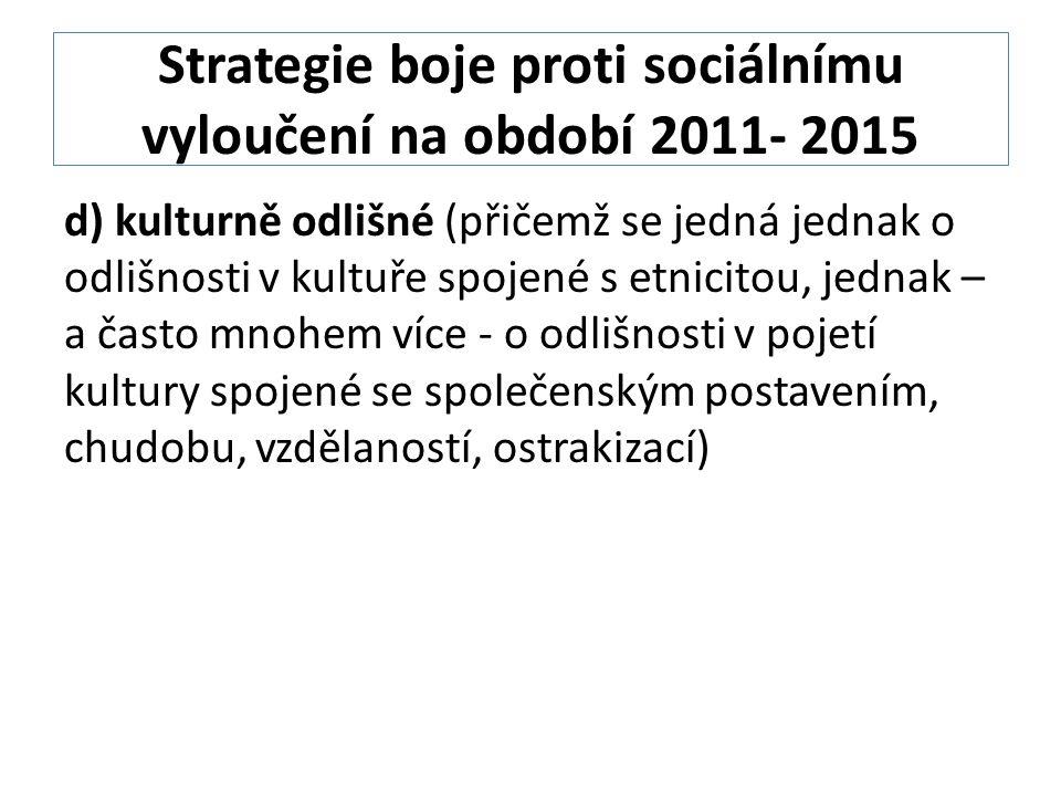 Strategie boje proti sociálnímu vyloučení na období 2011- 2015