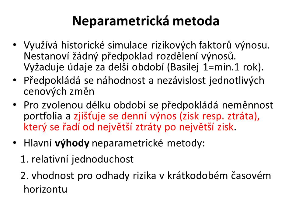 Neparametrická metoda