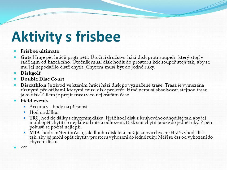 Aktivity s frisbee Frisbee ultimate