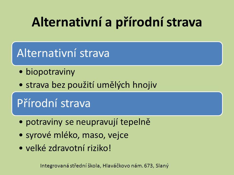 Alternativní a přírodní strava