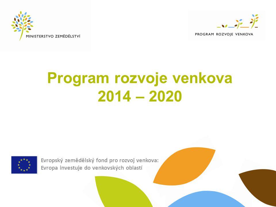 Program rozvoje venkova 2014 – 2020