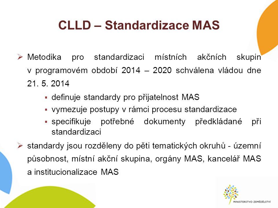 CLLD – Standardizace MAS