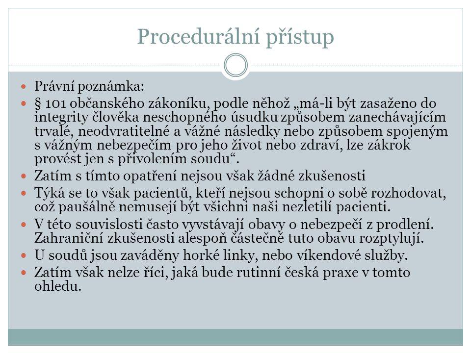 Procedurální přístup Právní poznámka:
