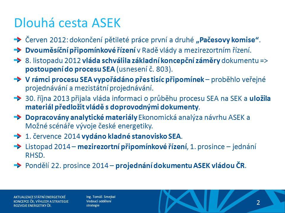 """Dlouhá cesta ASEK Červen 2012: dokončení pětileté práce první a druhé """"Pačesovy komise ."""