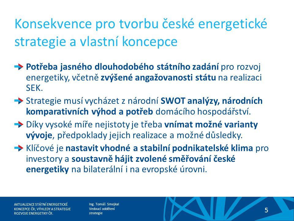 Konsekvence pro tvorbu české energetické strategie a vlastní koncepce