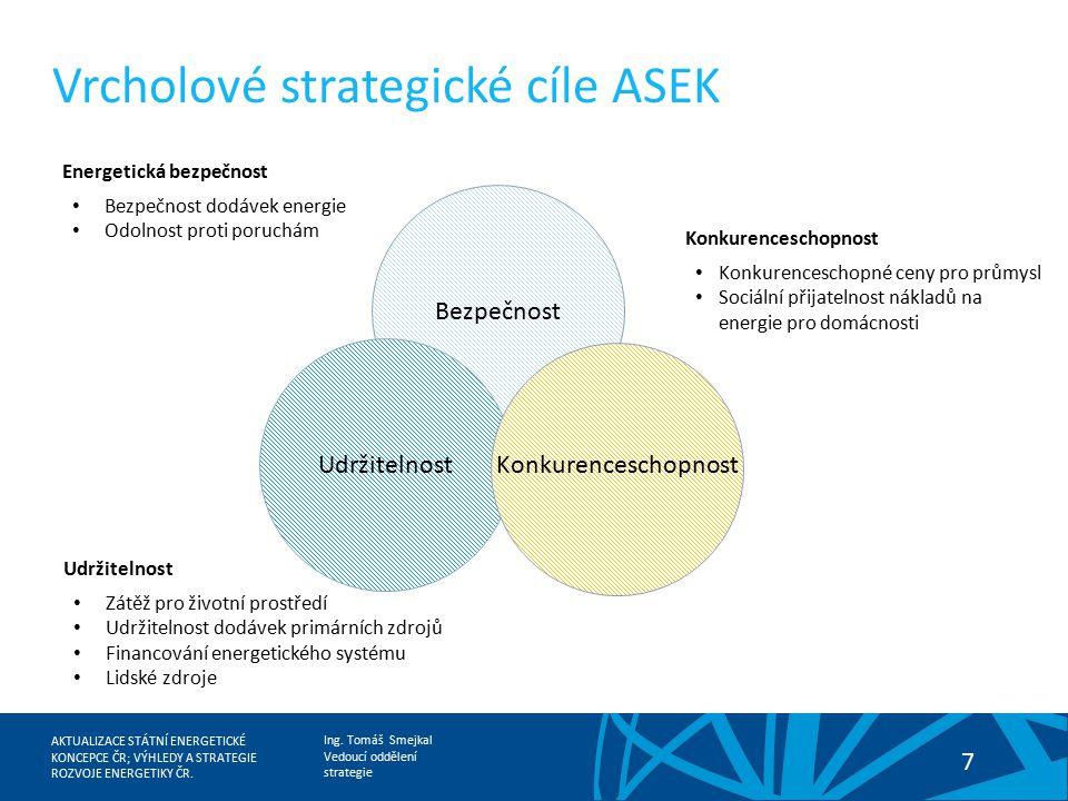 Vrcholové strategické cíle ASEK