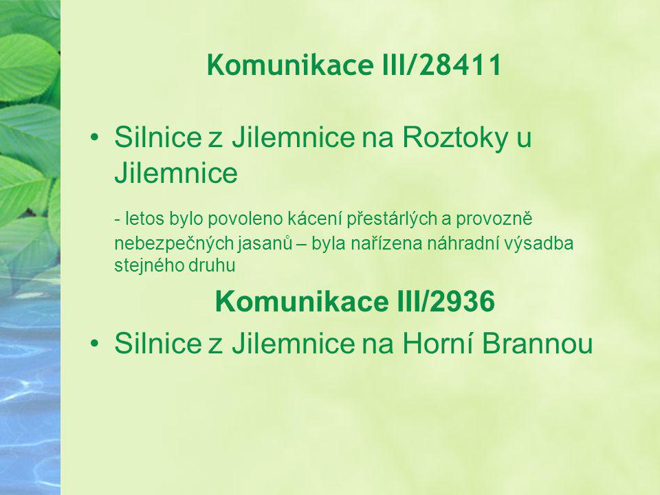 Komunikace III/28411 Silnice z Jilemnice na Roztoky u Jilemnice.