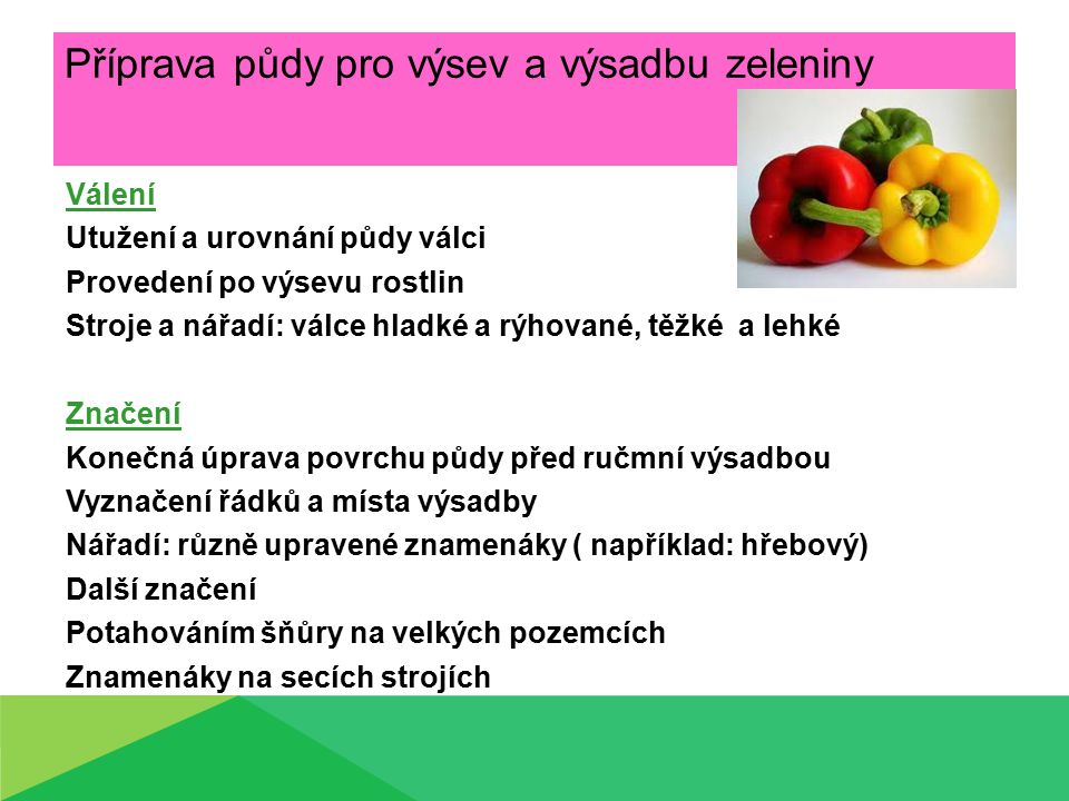 Příprava půdy pro výsev a výsadbu zeleniny