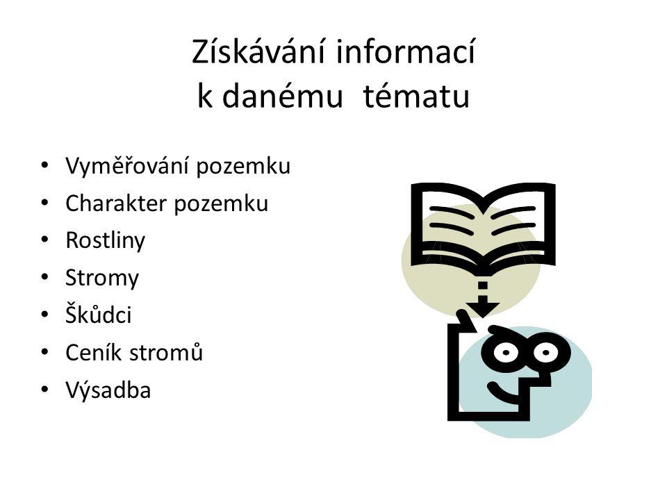 Získávání informací k danému tématu